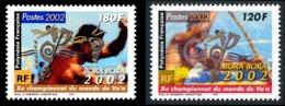 POLYNESIE 2002 - Yv. 661 Et 662 ** SUP  Faciale= 2,52 EUR - Championnats De Va'a (2 Val.)  ..Réf.POL24751 - Polinesia Francese