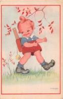 Carte CPA Fantaisie - Illustration M. B. Cooper -  Petit Garçon Randonneur Randonnée - Abbildungen