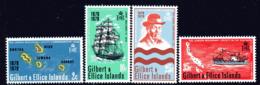 Gilbert & Ellice Islands 1970 Centenary Of Missionary Landing Set Of 4, MNH, SG 166/9 (BP2) - Isole Gilbert Ed Ellice (...-1979)