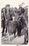 OLD PHOTOCARD OEGANDA ? KENIA ? - NATIVE PLAYING DRUM - NU ETNIQUE - PIGMIES  - Pegas Studio Nairobi - Oeganda