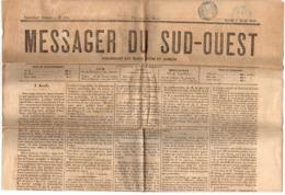 = Messager Du Sud Ouest N°125 Deuxième Année Mardi 7 Avril 1868 - Newspapers