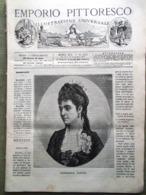 Emporio Pittoresco Del 18 Novembre 1877 Adelina Patti Faber Lutero Bauer Dragoni - Voor 1900