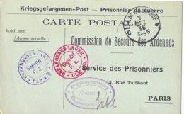 Ardenne Monthermé  Elie  Filquin   Ulm  Prisonnier - Poststempel (Briefe)