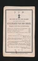 EERW.HEER GUILLIELMUS VAN DEN BERGH  KALMPHOUT 1818 - ABDIJ TE BORNHEM 1879 - 2 AFBEELDINGEN - Todesanzeige