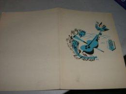 PROGRAMMA MOTONAVE M/S SOBIESKI 1949 AMERICAN LINE - Menu