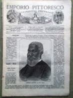 Emporio Pittoresco Del 2 Dicembre 1877 Zio Tom Henton Svedesi Scipka Mehemed Alì - Voor 1900