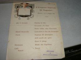 MENU' X CONGRESSO NAZIONALE DEI RAGIONIERI 1910 GENOVA - Menu