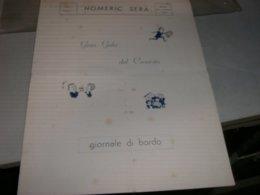 MENU' GRAN GALA' DEL CRONISTA HOMERIC SERA 1962 - Menu