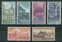 ESPAÑA 1961. Edifil **1382/87 - Real Monasterio De San Lorenzo De El Escorial - 1931-Oggi: 2. Rep. - ... Juan Carlos I