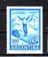 """Argentina   -  1969.  Salto Dal Trampolino. Ski Jumping. Fil """" Casa De Moneda """" . MNH  RARE!!! - Sci"""