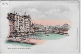 Luzern - Hotel Balance Et Bellevue - Farbige Litho - W. Zimmermann-Strässler No. 1009 - LU Lucerne