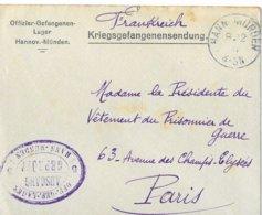 Commandant Soubielle  Hann Munden  Prisonnier - Poststempel (Briefe)