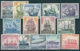 ESPAÑA 1964. Edifil **1599/1612 - Homenaje A La Marina Española - 1931-Heute: 2. Rep. - ... Juan Carlos I