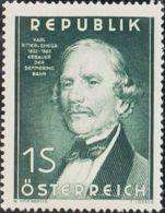 Austria. MNH **Yv 810. 1952. 1 S Verde. MAGNIFICO. Yvert 2014: 10 Euros. - Austria