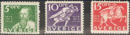 Suecia. MH *Yv 235/37a. 1936. Tres Valores, Dentados En Sus Cuatro Lados. MAGNIFICOS. Yvert 2013: 11 Euros. - Schweden