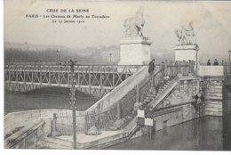 CPA PARIS  Crue De La Seine Les Chevaux De Marly Au Trocadéro  Le 27 Janvier 1910  édit ELD - Überschwemmung 1910
