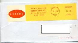 Lettre Flamme Ema Reims Scintigraphie Clinique Courlancy - Marcophilie (Lettres)