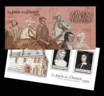 France 2019 Mih. 7496/97 (Bl.460) History Of France. Peace Of The Ladies MNH ** - Nuevos