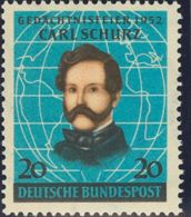 Alemania Occidental. MNH **Yv 41. 1952. 20 P Azul Y Negro. MAGNIFICO. Yvert 2014: 25 Euros. - Germany