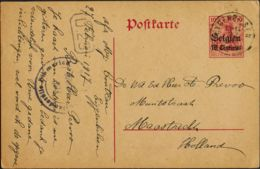 Bélgica Ocupación Alemana, Entero Postal. Sobre Yv . 1917. 10 Cts Sobre 10 P Rojo Sobre Tarjeta Entero Postal De EIGENBI - Otros - Europa