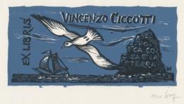 Ex Libris Vincenzo Ciccotti - Remo Wolf (1912-2009) Gesigneerd - Ex-Libris