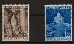 Vaticano. MNH **Yv 161/62. 1951. Serie Completa. MAGNIFICA. Yvert 2016: 20 Euros. - Vaticano (Ciudad Del)