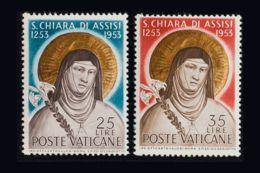 Vaticano. MNH **Yv 187/88. 1953. Serie Completa. MAGNIFICA. Yvert 2016: 25 Euros. - Vaticano (Ciudad Del)