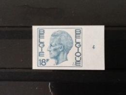 Nr.1963 Koning Boudewijn Met Plaatnummer 4. Type Elström.Ongetand. - Belgique