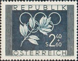 Austria. MNH **Yv 809. 1952. 2'40 S + 60 G Azul Negro. MAGNIFICO. Yvert 2014: 30 Euros. - Austria