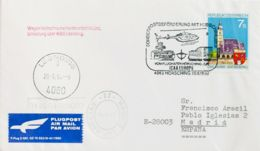 Austria. Sobre Yv 1814. 1990. 7 S Multicolor. Sobre Del Primer Día De LEONDING (AUSTRIA) A MADRID. Matasello Especial SU - Austria