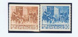 Suecia. MH *Yv 287/88. 1941. Serie Completa. MAGNIFICA. Yvert 2013: 32,5 Euros. - Schweden