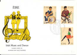 Ireland FDC 25-9-1980 Complete Set Irish Music And Dance With Cachet - FDC