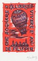 Ex Libris De Filippis - Remo Wolf (1912-2009) Gesigneerd - Exlibris