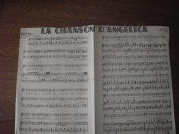 Partitions-LA CHANSON D'ANGELICA Paroles D'A Mauprey & H Geiringer, Musique De F Léhar - Scores & Partitions