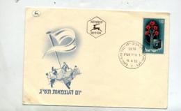 Lettre Fdc 1953 Fleur - FDC