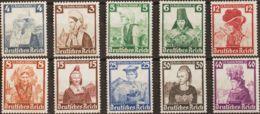 Alemania. MH *Yv 547/56. 1935. Serie Completa. MAGNIFICA. (Mi588/97 40 Euros) - Germany