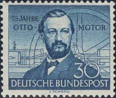 Alemania Occidental. MNH **Yv 35. 1952. 30 P Azul. MAGNIFICO. Yvert 2014: 37,5 Euros. - [1] ...-1849 Precursores