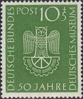 Alemania Occidental. MNH **Yv 51. 1953. 10 P + 5 P Verde. MAGNIFICO. Yvert 2014: 40 Euros. - [1] ...-1849 Precursores