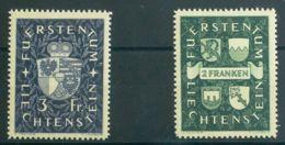 Liechtenstein. MNH **Yv 159/60. 1939. Serie Completa. MAGNIFICA. Yvert 2012: 32,5 Euros. - Liechtenstein