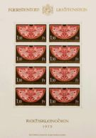 Liechtenstein. MNH **Yv 577(8). 1975. 1'30 Fr Castaño, Rojo Y Oro. MINIPLIEGO DE OCHO. MAGNIFICO. Yvert 2012: +36 Euros. - Liechtenstein