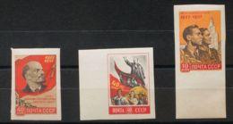 Rusia. MNH **Yv 1990a, 1991a, 1992a. 1957. 10 K Multicolor, 40 K Multicolor Y 40 K Multicolor (Lenin). SIN DENTAR. MAGNI - Unclassified