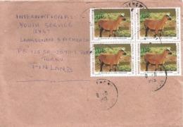 Cameroun Cameroon Kamerun 1995 Mbengwi Goat 125f On 70f Overprint Michel 1198 Cover - Cameroun (1960-...)