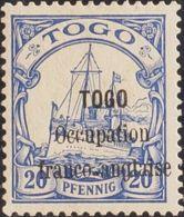 Togo. MH *Yv 25. 1914. 20 P Ultramar. MAGNIFICO. (Mi3 36 Euros) - Togo (1960-...)