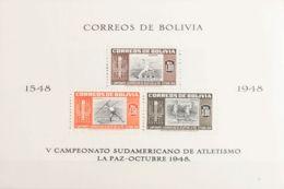 Bolivia, Hoja Bloque. MH *Yv 11/14. 1951. Hojas Bloque. MAGNIFICA. Yvert 2013: 55 Euros. - Bolivia