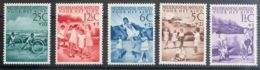 Antillas Holandesas. MH *Yv 222/26. 1951. Serie Completa. MAGNIFICA. Yvert 2013: 55 Euros. - Territorio Antártico Británico  (BAT)