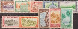 Cook. MH *Yv 76/85. 1949. Serie Completa. MAGNIFICA. Yvert 2013: 45 Euros. - Islas Cook