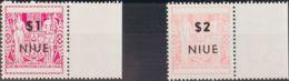 "Niue. MNH **Yv 104/05b. 1967. 1 $ Lila Rosa Y 2 $ Rosa. Sobrecarga ""NIVE"" (más Delgada). MAGNIFICOS. Yvert 2008: 27,5 Eu - Niue"
