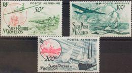 San Pedro Y Miquelón, Aéreo. MNH **Yv 18/20. 1947. Serie Completa. MAGNIFICA. Yvert 2014: 45 Euros. - St.Pedro Y Miquelon