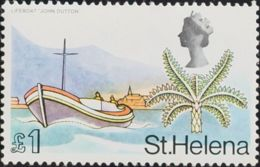 Santa Elena. MNH **Yv 209a. 1968. 1 Libra Multicolor. Variedad COLORES APAGADOS. MAGNIFICO. Yvert 2009: 32,5 Euros. - St. Helena