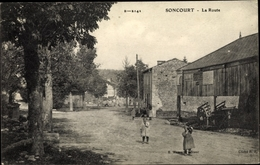 Cp Soncourt Haute Marne, La Route - Autres Communes